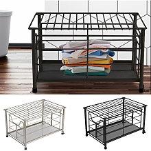 Metal Wire Storage Basket Bathroom Kitchen Bedroom