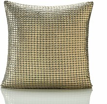 Metallic Antique Gold 18 x 18 Cushion Cover Sofa