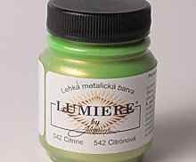 Metallic Colors Lumiere 542 Lemon, Jacquard,