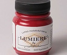 Metallic Colors Lumiere 544 Crimson, Jacquard,