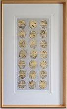 Metallic Fossil Study - Framed Print & Mount, 84 x