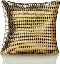 Metallic Gold 18 x 18 Cushion Cover Sofa Bed