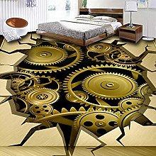 Metallic Wallpaper Modern Custom 3D Photo Metal