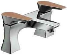 Metallix Hourglass Copper Radiance Bath Filler Tap