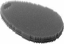 Metaltex 297615000 Scrubber, Silicone, Black