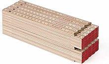 Metrie Block Folding Rule 72-2 m Natural Pack of 50