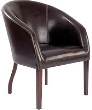 Metro Curved Armchair, Brown