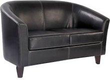 Metro Leather 2 Seat Sofa, Brown