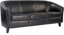 Metro Leather 3 Seat Sofa, Brown