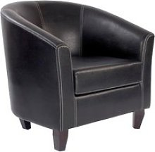 Metro Leather Armchair, Brown