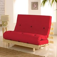 Metro Pine Wooden 2 Seater Chair/Folding Guest Bed
