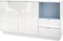 Metro Sideboard Vladon Colour: White (glossy)/Navy