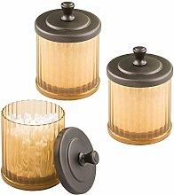 MetroDecor mDesign Bathroom Vanity Canister Jar