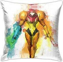 Metroid Prime Square Pillowcase Soft Plush Living