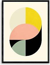 Metron - 'Circles' Framed Print, 83.4 x