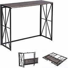 MEUBLE COSY Folding Wooden and Metal Desk Table