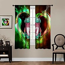 MEW Anime Blackout Curtains,Liverpool Flame, rod