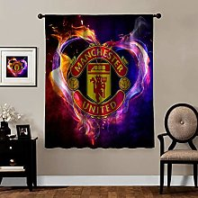 MEW Anime Blackout Curtains,Manchester United