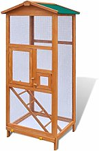 mewmewcat Bird Cage Aviary with Pull-out Tray with