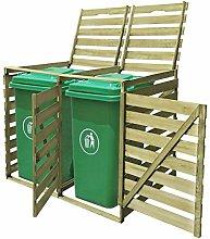 mewmewcat Double Wheelie Bin Shed with Lifting