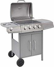 mewmewcat Gas Barbecue Grill 4+1 Burner Garden