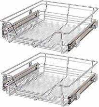 mewmewcat Set of 2 Pull-Out Wire Basket Set
