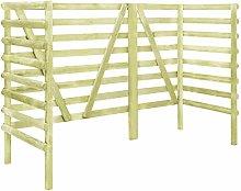 mewmewcat Triple Bin Shed Wooden Outdoor Storage