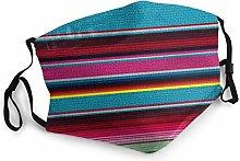 Mexican Fine Fun Art Stripes Bandana Face Mask