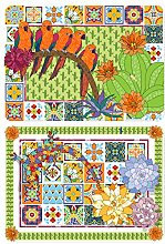 Mexican PLACEMATS by MOLLYMAC Parrot Table Dining