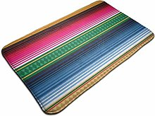 Mexican Rug Pattern Bath Mat Polyester Front Door