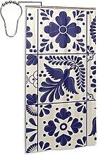 Mexican Rug Serape Stripes Shower Curtain,36x72