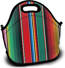 Mexican Rug Serape Stripes The Arts Lunch Bags for