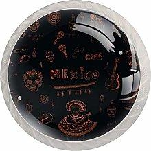 Mexico Symbols Kitchen Cabinet Knobs Hardware