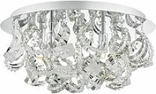 Mezen ceiling light polished chrome and crystal 5
