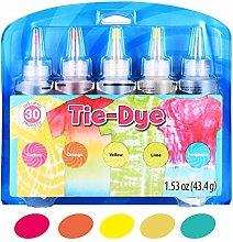 MezoJaoie Tie Dye Kits, 5 Colors Dye Craft &