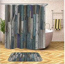 MF.CHAMA Bathroom Curtains Shower Set, Polyester