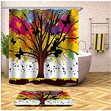 MF.CHAMA Curtains Bathroom, Shower Curtain With