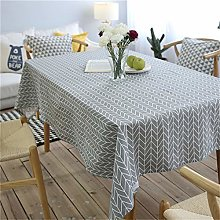 MF Cotton Linen Tablecloth Geometric Rectangular
