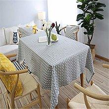 MF Cotton Linen Tablecloth Geometric Rectangular