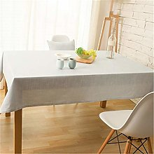MF Simple Decorative Cotton Linen Tablecloth