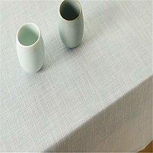 MF Simple Decorative Cotton Linen Tablecloth