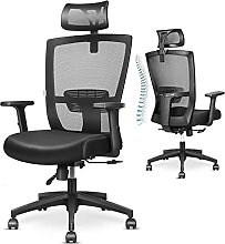 mfavour Ergonomic Office Chair Back Support Desk