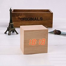 MFENG Store Multicolor Sounds Control Wooden Clock