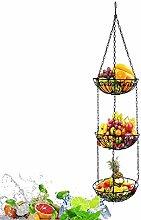 MFLASMF 3-Tier Hanging Basket Fruit Organizer