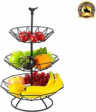 MFLASMF 3-Tier Metal Wire Fruit Vegetable Bowl