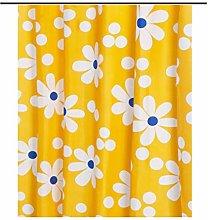MFLASMF Shower Curtain, Yellow Shower Curtain,