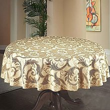MforStyle Round Thick Tablecloth Natural/Golden