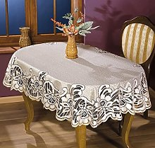 MforStyle Tablecloth Cream Golden beige Heavy Lace