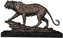 MFSMQJ Tiger Bronze Sculptures Statue Copper