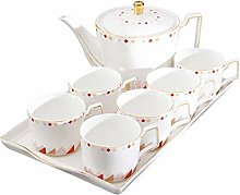 MFYXUE Porcelain Coffee Cups And Saucers Set White